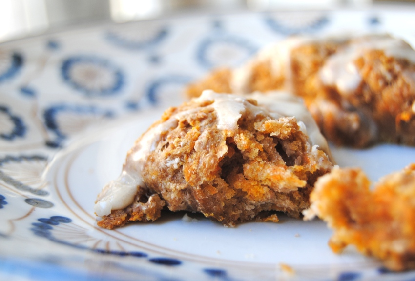 Maple-Glazed Carrot Spice Scones